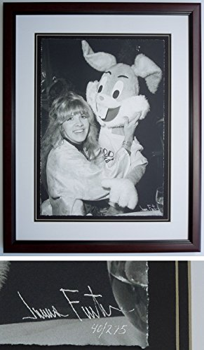 Stevie Nicks and Bugs Bunny - James Fortune Limited Edition Fine Art Giclee Lithograph Photo Print - Mahogany Frame - measures 22x28 inches - Custom Frame - Fleetwood Mac