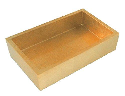 Caspari - Fancy Flat Napkin/Towel Holder For Kitchn or Dining Room, Lacquer, Gold