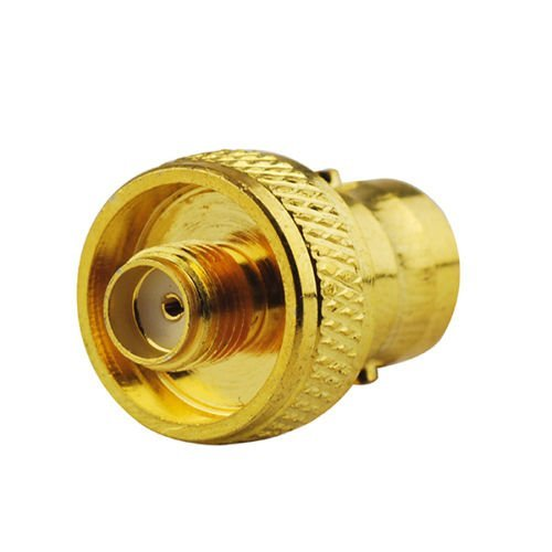 2pcs DHT Electronics RF coaxial coax adapter SMA female to BNC female goldplated ()
