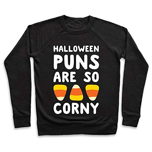 LookHUMAN Halloween Puns are So Corny Medium Black
