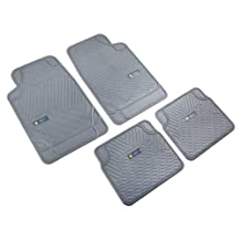 Highland 4547900 Weather Fortress Gray Synthetic Rain Floor Mat - 4 Piece