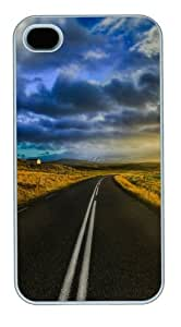 iPhone 4S/4 Case Cover - The Open Road In Iceland New Design iPhone 4S/4 Case and Cover - Polycarbonate - White