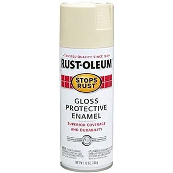 Rust-Oleum 7770830 Stops Rust Spray Paint, 12-Ounce, Gloss Almond