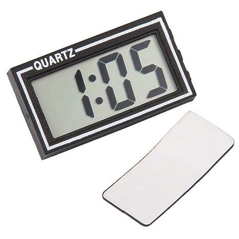 Reloj digital LCD para coche o vehículo, con fecha, hora y calendario: Amazon.es: Hogar