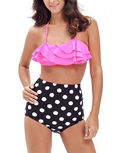Sidefeel Ruffle Shoulder Swimsuit Bikini