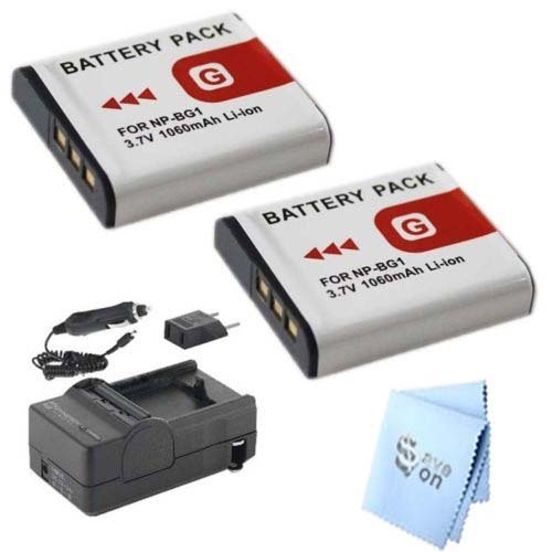 2x Battery+Charger for Sony NP-BG1 NP-FG1 Type G H3 H7 H9 H10 H50 N1 N2 T20 T100 Bg1 Lithium Ion Rechargeable Battery