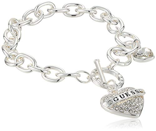 GUESS Women's Toggle Charm Bracelet, Silver, One Size from GUESS