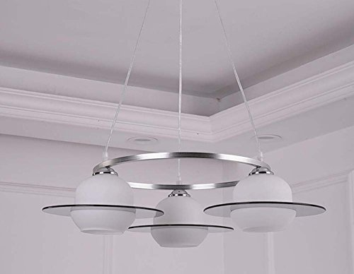 Contemporary Chandelier Head - Onfly Chandelier Pendant Light Ambient Light - Dimmable LED, Adjustable 3 Head,UFO Spaceship,Modern/Contemporary, 110-120V 220-240V, Hanging Lamp (Color : 5W led)