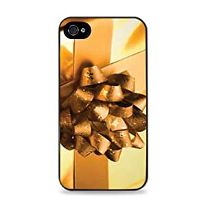 Gold Gift Box With Gold Bow Black Silicone Case for iPhone 6 (4.7 inch) i6