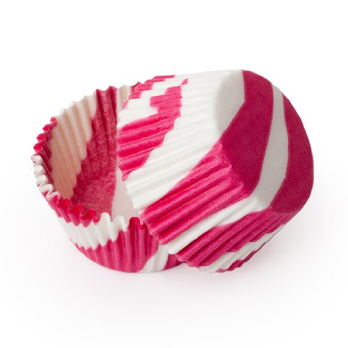 Dress My Cupcake Standard Hot Pink Zebra Stripe Cupcake Liners