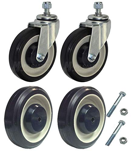 Mapp Caster Shopping Cart Wheels & Casters Replacement Kit by Mapp Caster (Image #2)