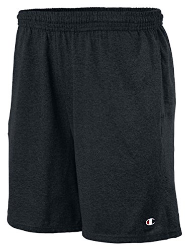 Champion Authentic Cotton 9-Inch Men's Shorts with Pockets_Black_L