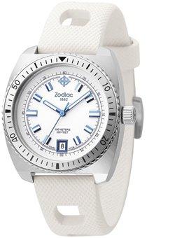 Zodiac ZO2244 - Reloj analógico de cuarzo para mujer con correa de piel, color blanco: Amazon.es: Relojes