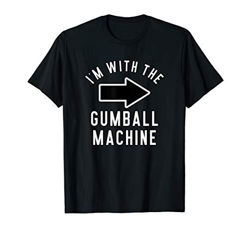 Couples Halloween Costume Shirt I'm With The Gumball Machine T-Shirt