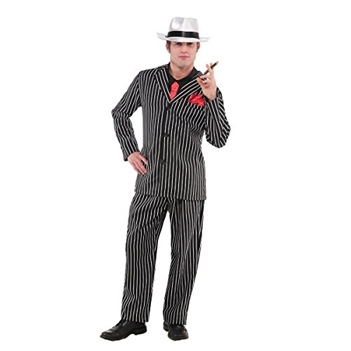 amscan Adult Mob Boss Costume - X-Large (44-46), Black -