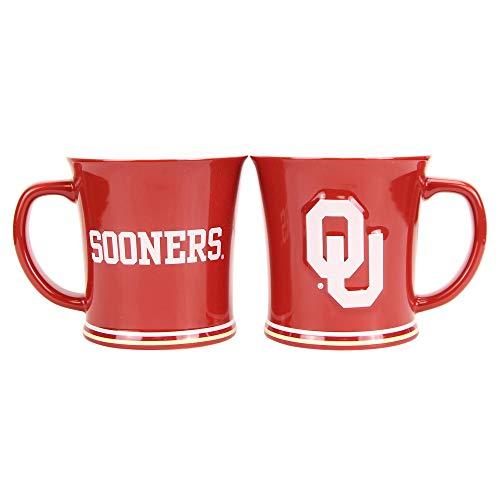 (Boelter NCAA Collegiate 15oz Full Color Sculpted Coffee Mug 2-Pack (Oklahoma Sooners))