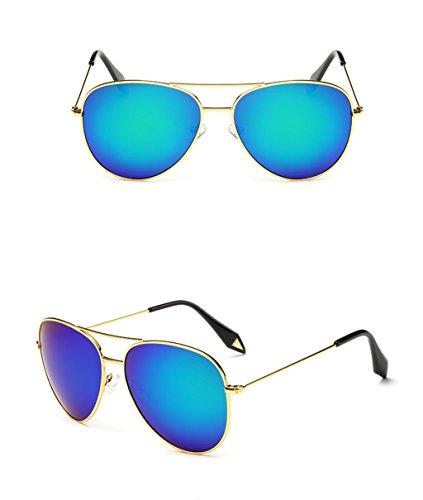 polarizada Gafas Espejo Lente amp; 7 Gafas Color amp;Gafas Gafas X9 de personalidad de Película de protecciónn 6 sol Gran Marco Vintage qzfgq