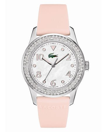 Lacoste Advantage (Lacoste Advantage Mother of Pearl Dial Rubber Strap Ladies Watch 2000663)
