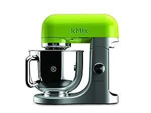Kenwood kMix KMX95 - Robot de cocina, 500 W, capacidad de 5 l, 6 velocidades, 3 herramientas, plateado y verde