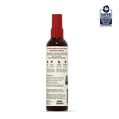 Chateau Spill Red Wine Stain Remover – Super Concentrated and Safe Spray Cleaner for New and Set-In Wine Stains on Carpet, Rugs, Clothing Upholstery and Laundry (120ml, 4 oz Spray Bottles) 3 Pack