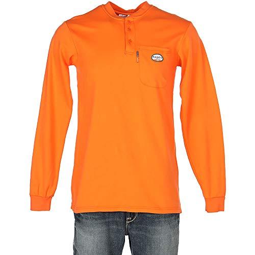Rasco FR Mens Long Sleeve Henley T Shirt S -