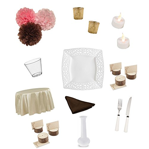 Party Decorations Dinner Table Centerpiece Themed Wedding Birthday Celebration Special Event (Rustic) -