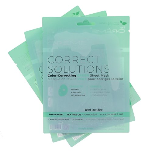 The Crème Shop - Correct Solutions - Green Sheet Mask - 3 P