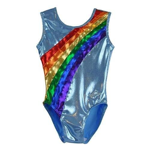 Obersee Kid's Gymnastics Leotard, Rainbow Arc, CXS
