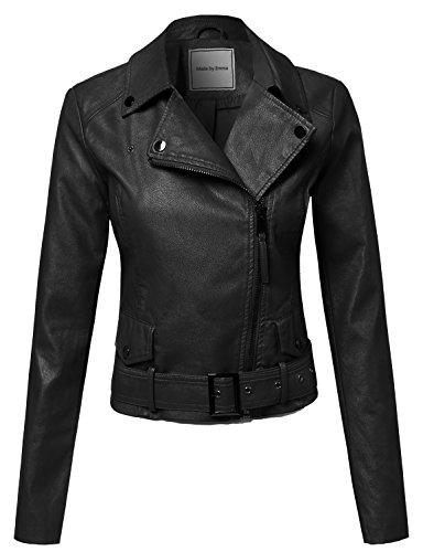 Belted Leather Jeans (Classic Belted Biker Jacket Black XL)