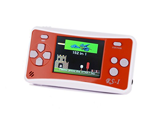 Kids' Classic Retro Handheld Game Console,QINGSHE Portable Video Game Player 2.5'' LCD 8 Bit 152 in 1 Games ,Arcade Style Old School Gaming System,Best Electronics Toy for Kids as Birthday Gift-Orange