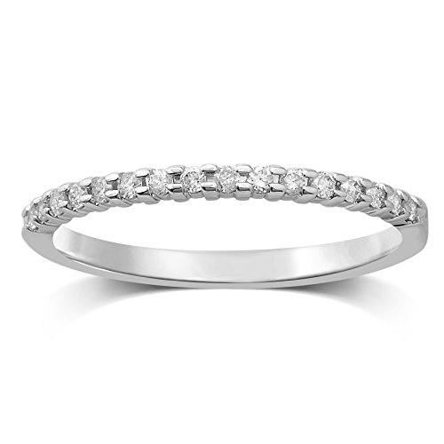 Diamond Jewel 10k White Gold 1/7 cttw Diamond Stackable Ring by Diamond Jewel