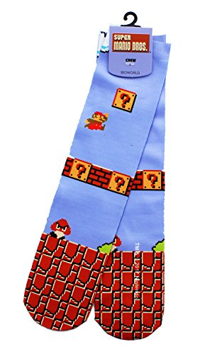 Super Mario Bros Nintendo Tube - Socks Mario