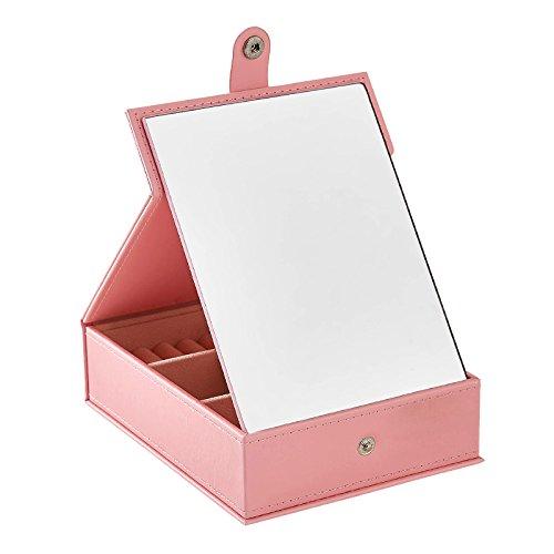 XCF Joyero WLQ - con Espejo de Maquillaje Joyero de Escritorio - Espejo Plegable - Espejo vestidor de Escritorio Dormitorio -...