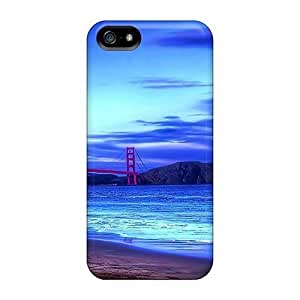 Premium For Iphone 5C Phone Case Cover - Protective Skin - High Quality For Golden Gate Bridge From The Beach Hdr 4119527M175256934