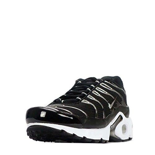 Nike Air Max Plus Tn (gs) Sneaker Da Bambino Nero Metallizzato Argento Nero 097