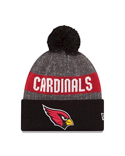 New Era NFL Arizona Cardinals 2016 Reverse Team Color Sport Knit Beanie, One Size, Black/Gray