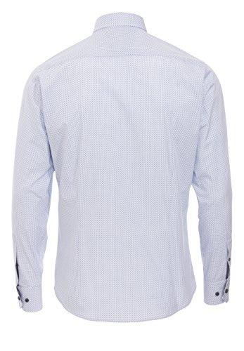 Pure Fashion Fit Chemise à manches longues Motif Bleu clair