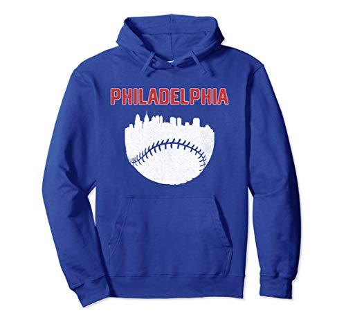 (Vintage Philadelphia PA Cityscape Baseball Retro Hoodie)
