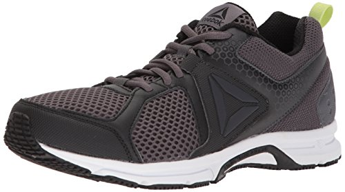 Reebok Men's Runner 2.0 MT Running Shoe, black/ash grey/electric flash/white, 8.5 M US