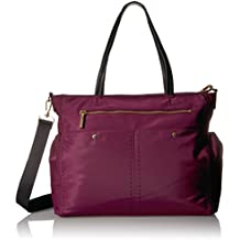 MILLY Sold Stitch Diaper Bag, Burgundy
