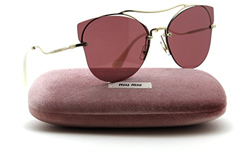 491331ed4dc74 Miu Miu MU 52SS SCENIQUE Collection Butterfly Women Sunglasses (Pale Gold  F