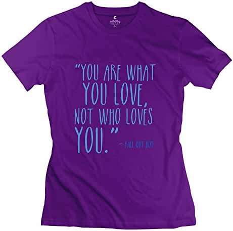 Fall Out Boy Quotes Slim Fit T-Shirt For Woman