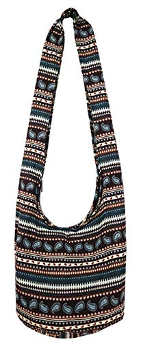 Bag Tribal Sling Hobo Shoulder Tribal Cotton Lovely Dark Gypsy Hippie Hmong Bohemian Red bag Woven Creations Crossbody OqXBwF5