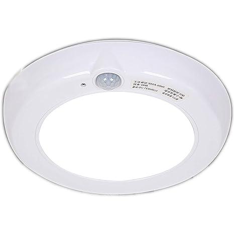 Luz de techo Sensor de movimiento Redondo Blanco Lámpara de metal de plástico Lámpara automática Sensor
