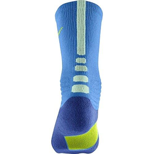 Nike Calzini da basket Unisex adulto Elite Blau/Grau (Royal Blue (473) / Volt/Grey/Blue)
