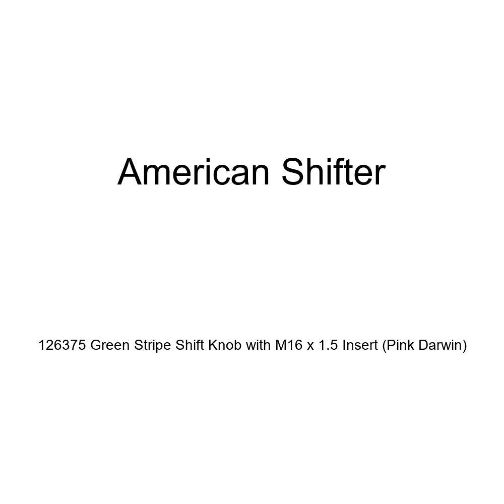 American Shifter 126375 Green Stripe Shift Knob with M16 x 1.5 Insert Pink Darwin