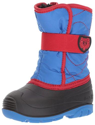 Kamik Children's Snow Boots - Kamik Boys' Snowbug3 Snow Boot, Strong Blue/Red, 7 Medium US Toddler