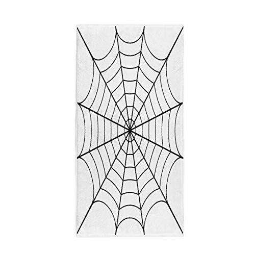 Pinbeam Bath Towel Spider of Cobweb Spiderweb Halloween Net Haloween Pattern Towel Beach Towel for $<!--$19.90-->