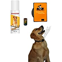 Downtown Pet Supply NO BARK Collar Citronella Spray Collar or Ultrasonic Anti-Bark Deterrent for Dogs Kit - Safe, Effective, and Humane Dog Barking Control collar