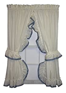 Amazon Com Lucy Country Style Ruffle Priscilla Curtains